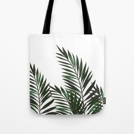 Palm Leaves Green Tote Bag