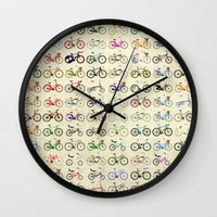 bikes Wall Clocks featuring Bikes by Wyatt Design