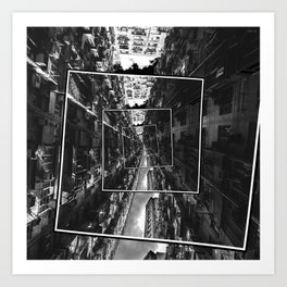 Spinning City Art Print