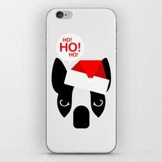 Santa Boston Terrier iPhone & iPod Skin