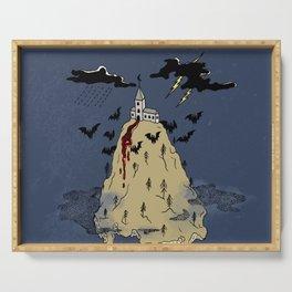 Black moon castle Serving Tray