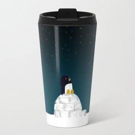 Star gazing - Penguin's dream of flying Travel Mug