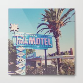 Pink Motel, Los Angeles, California Metal Print