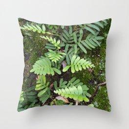 Moss and Fern Throw Pillow