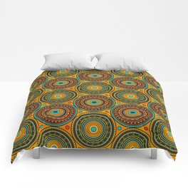 Ethnic Tribal Circular Pattern N 1 Comforters