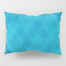 Gentle light blue triangles in the intersection and overlay. Pillow Sham