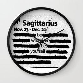 Sagittarius 1 Wall Clock