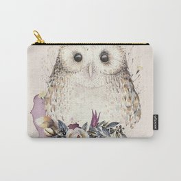 Boho Illustration- Be Wise Little Owl Carry-All Pouch