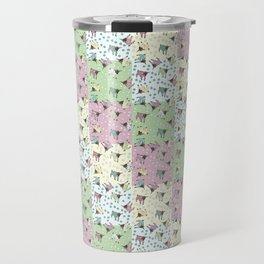 Pajama'd Baby Goats - Small Patchwork Travel Mug