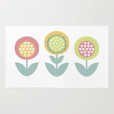 Geometric flower print  Rug