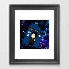 Tardis in space Doctor Who war 8.5 Framed Art Print