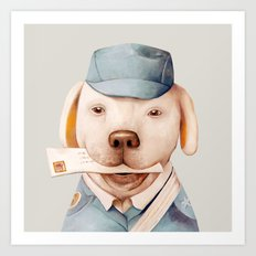 Delivery Dog Art Print