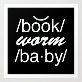 Bookworm baby Art Print