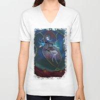 persona V-neck T-shirts featuring Fuuka Persona 3 by Creativelea