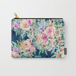 SO RICH Dark Boho Floral Carry-All Pouch