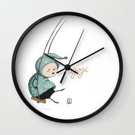 Goji on the swing Wall Clock