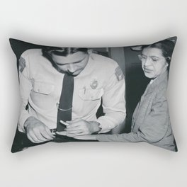 African American Portrait - If Rosa Parks Rode a Bus Today? black and white photography / photograph Rectangular Pillow