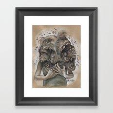 One Screaming Monkey at a Time Framed Art Print