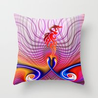 dragon Throw Pillows featuring Dragon by haroulita