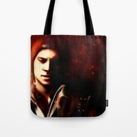 infamous Tote Bags featuring InFAMOUS: Second Son by Kate Dunn