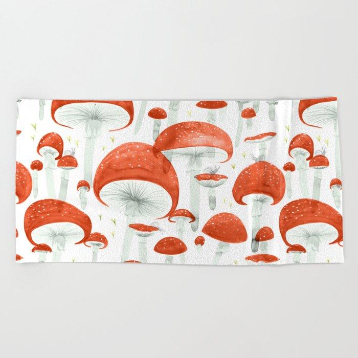 Mycelium Fruiting Bodies by Friztin © 2017 Beach Towel