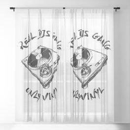 Real Djs Sheer Curtain
