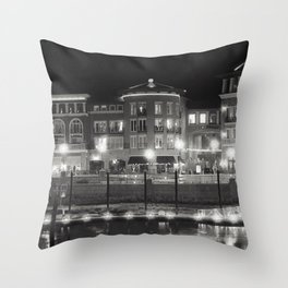 Riverfront Lights Throw Pillow