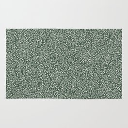 Micro Floral - Moss Rug