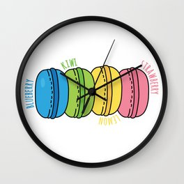 Rainbow Macaroons Wall Clock
