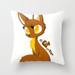 Pina Wolf Throw Pillow