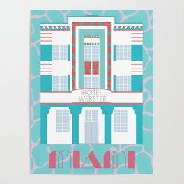 Miami Landmarks - Hotel Webster Poster