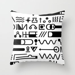 Blood On The Wall Throw Pillow
