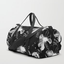Black Flowers Duffle Bag