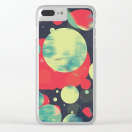 Planets 01' Clear iPhone Case