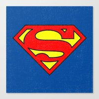 superman Canvas Prints featuring Superman by Alisa Galitsyna