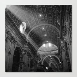 St. Peters After Mass Canvas Print