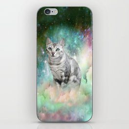 Purrsia Kitty Cat in the Emerald Nebula of Innocence iPhone Skin