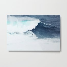 Wave Surfer Indigo Metal Print