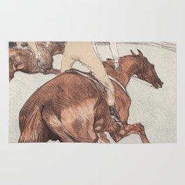 "Henri de Toulouse-Lautrec ""Le Jockey"" Rug"