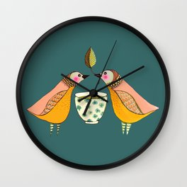 a tea for two Wall Clock