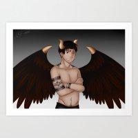 Fallen Angel Darco Art Print