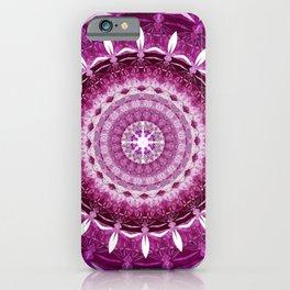 Mandala Infinity Purple Spiritual Zen Bohemian Hippie Yoga Mantra Meditation iPhone Case