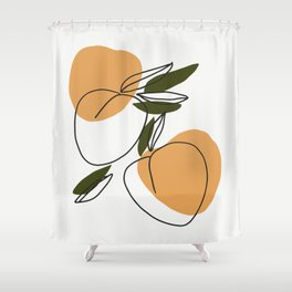 The peaches - Modern abstract art illustration Shower Curtain
