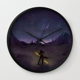 Under the Light from Distant Worlds Wall Clock