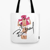 britney spears Tote Bags featuring Britney Spears by BlessingO