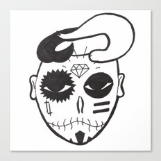 Skull Boy Canvas Print