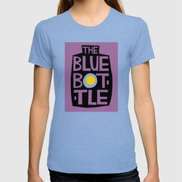 The Blue Bottle - typographic design T-shirt