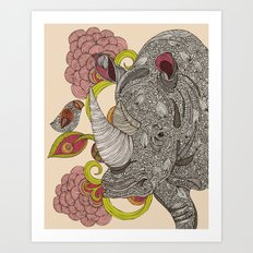 Olive and Hank Art Print