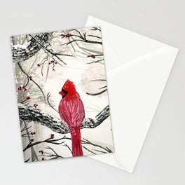 Red Robins Winter Stationery Cards