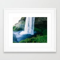 waterfall Framed Art Prints featuring Waterfall by StayWild